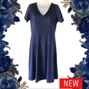 Sp navy blue travel smith double layer dress